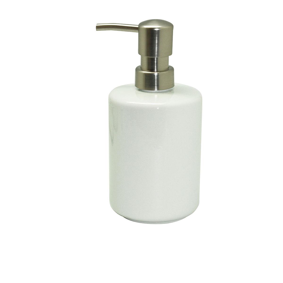 Distributeur de savon en porcelaine blanc