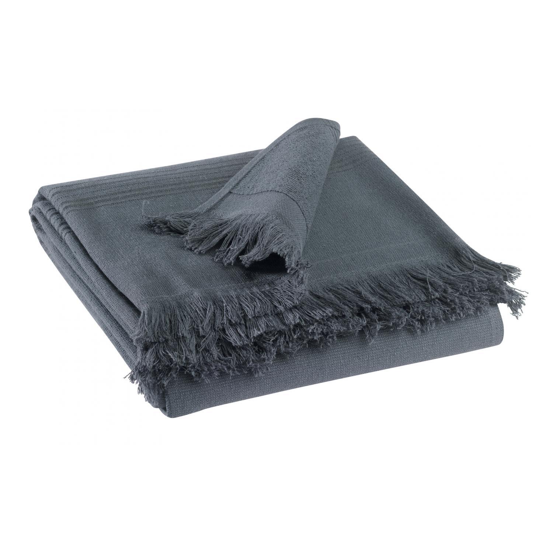 Drap de douche en coton ombre 70 x 140