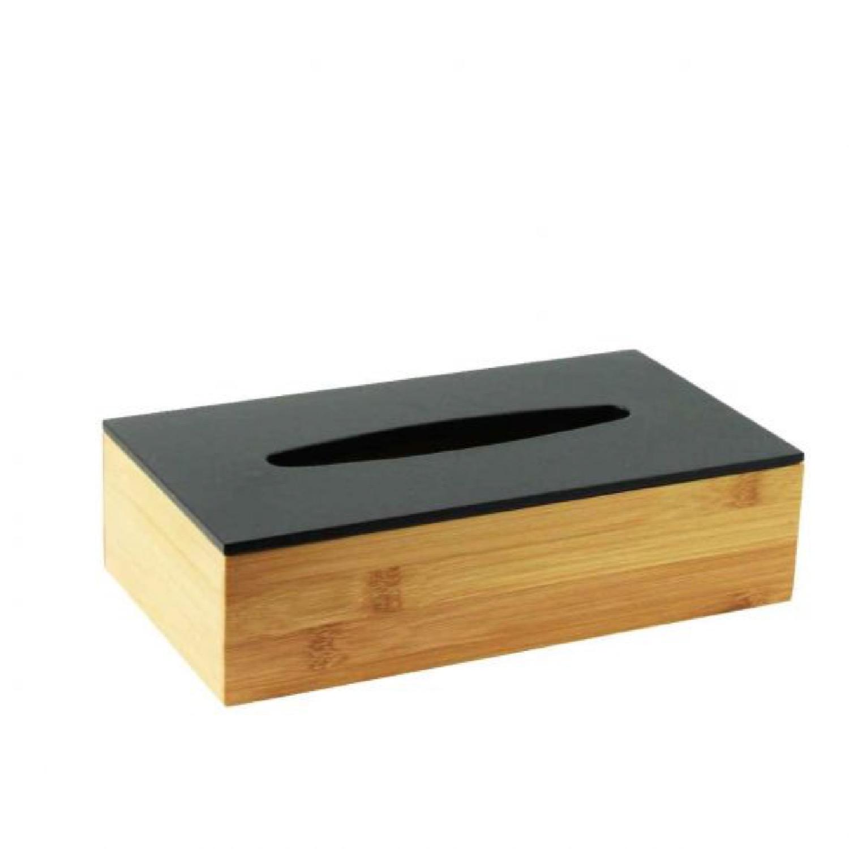 Boite à mouchoir en bambou noir (photo)