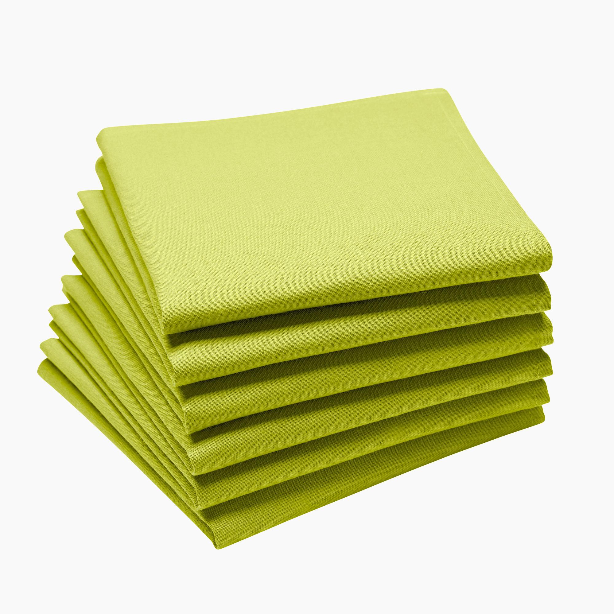 Lot de 6 serviettes en coton traite Teflon, Kiwi 45 x 45
