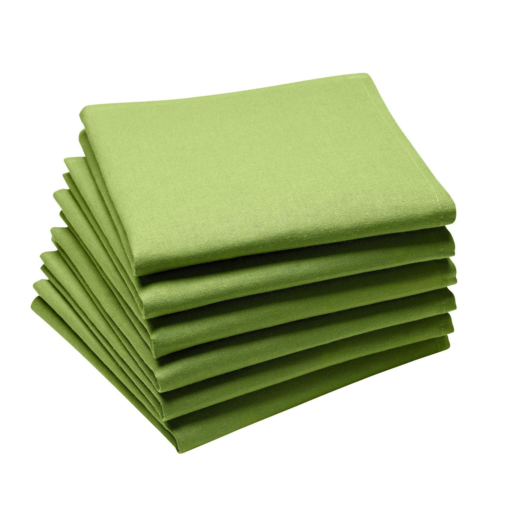 Lot de 6 serviettes en coton traite Teflon, Brocoli 45 x 45
