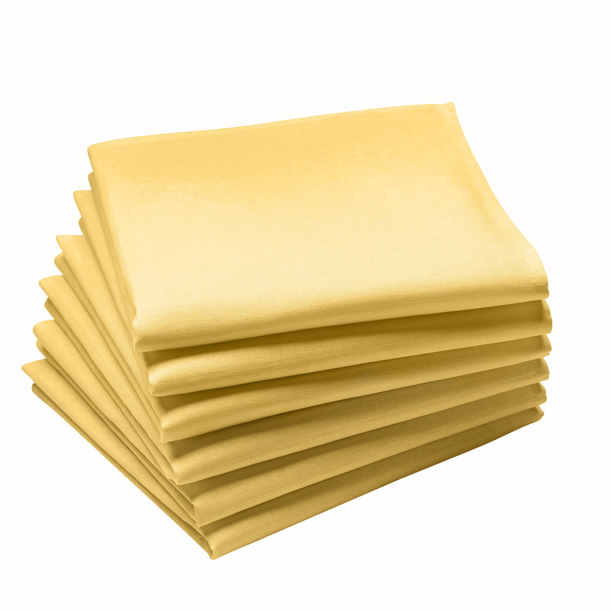 Lot de 6 serviettes en coton traite Teflon, BlE 45 x 45