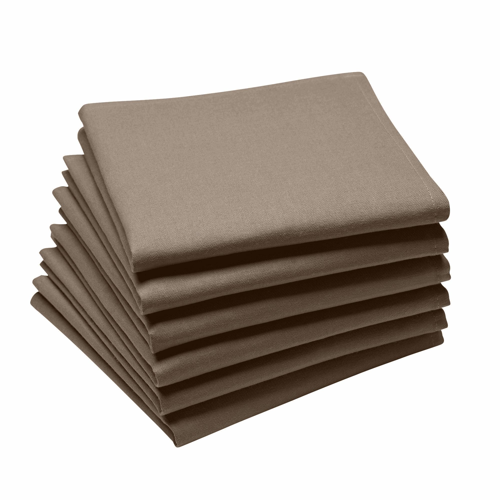 Lot de 6 serviettes en coton traite Teflon, Truffe 45 x 45