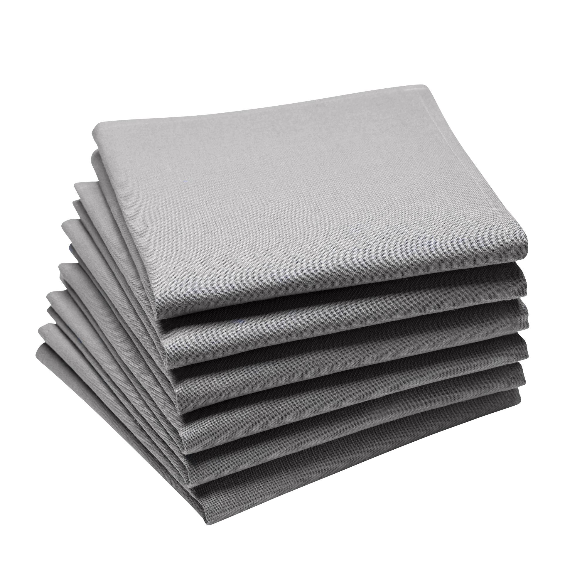 Lot de 6 serviettes en coton traite Teflon,  Galet 45 x 45