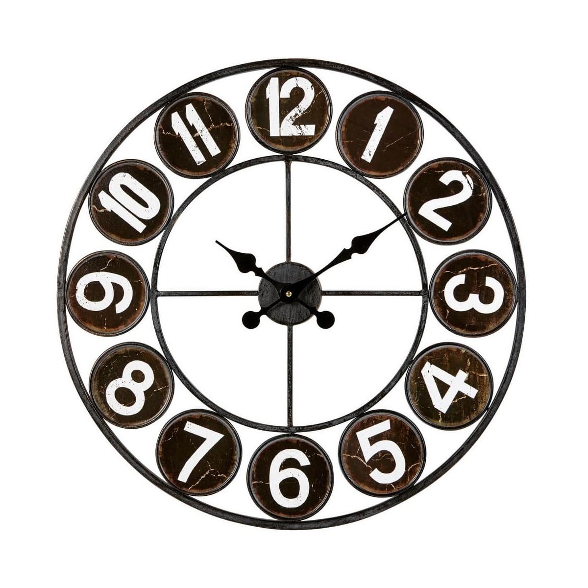 Horloge métal noir D60