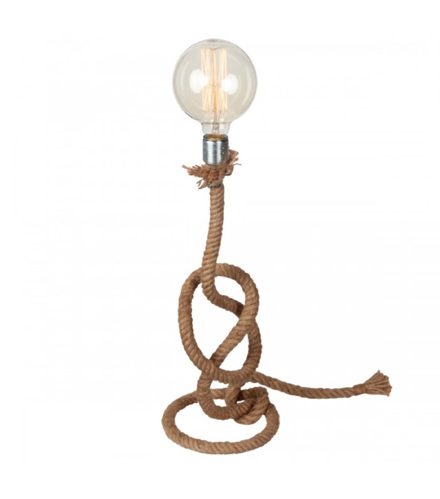 Lampe à poser corde H51cm