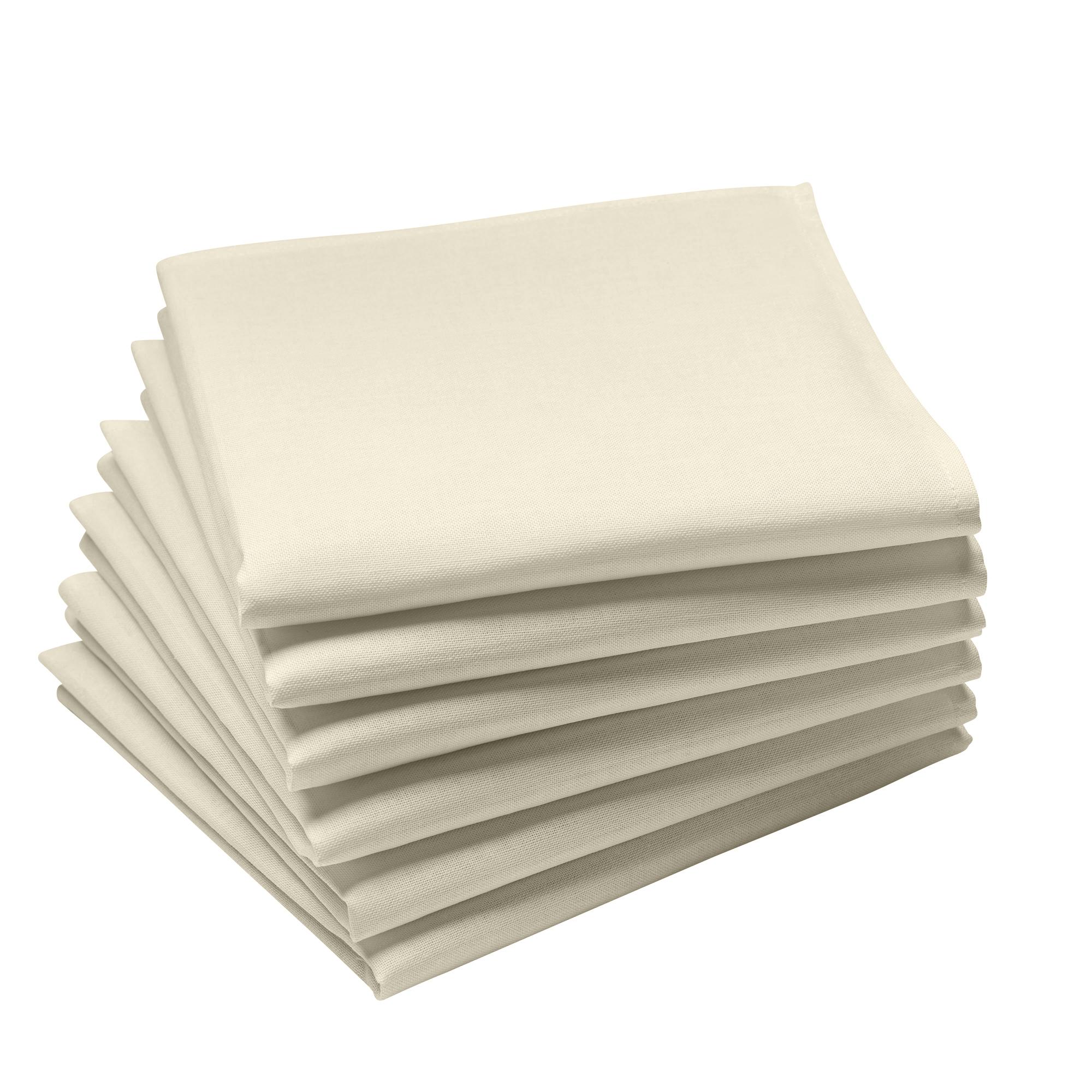 Lot de 6 serviettes en coton traite Teflon, Grege 45 x 45