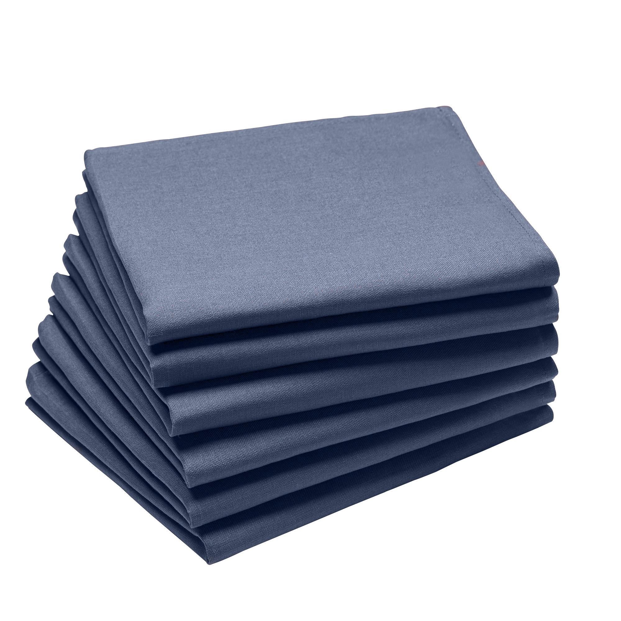 Lot de 6 serviettes en coton traite Teflon, Cyclades 45 x 45