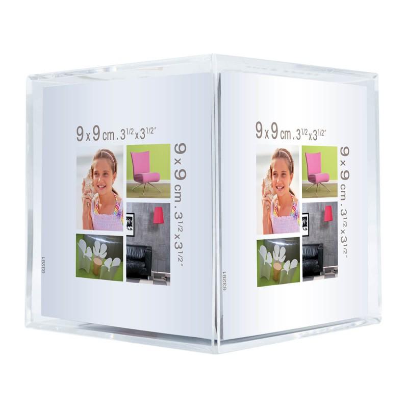 Cadre photo cube cristal plexiglas® 9x9