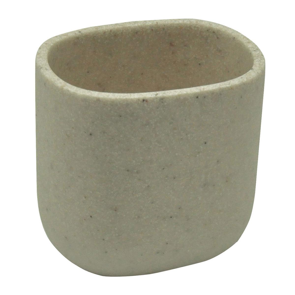 Gobelet en résine effet sable