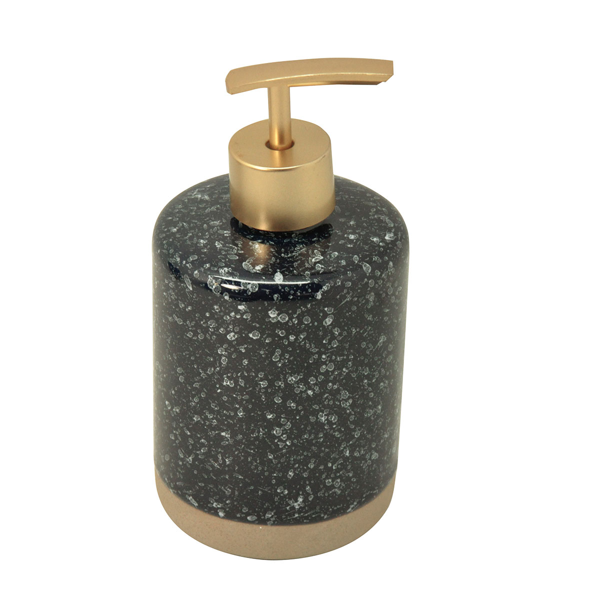 Distributeur de savon effet granite bleu