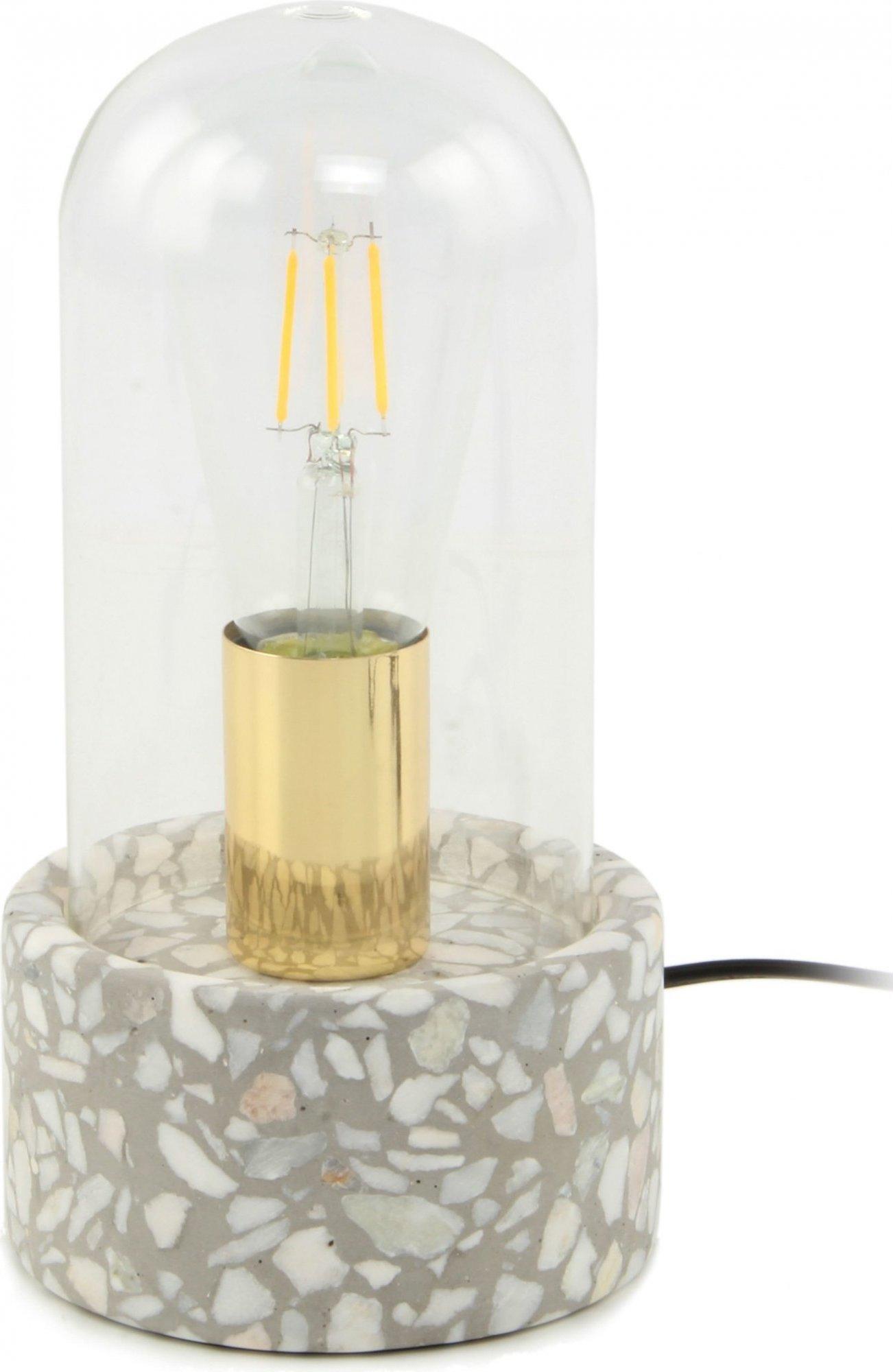 Lampe de table grise