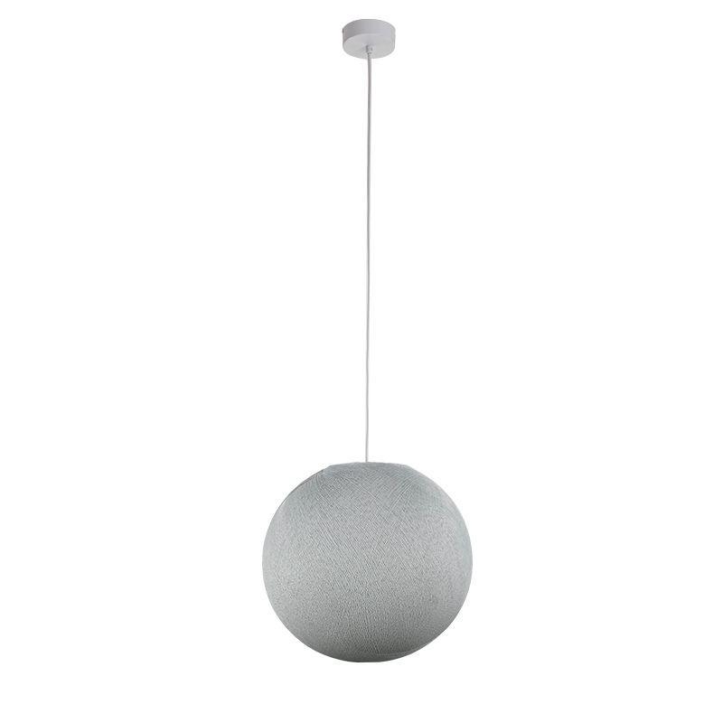 Suspension simple globe M gris perle