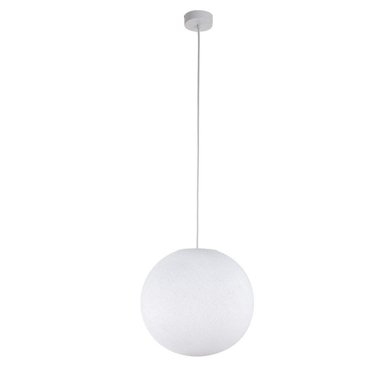 Suspension simple globe M blanc
