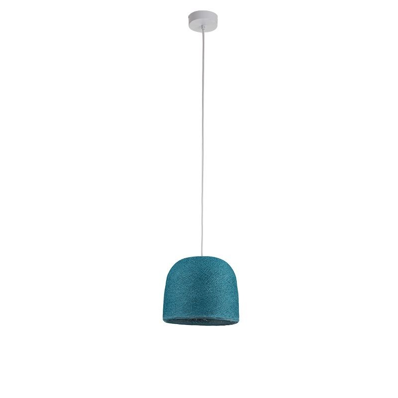 Suspension simple cloche bleu canard