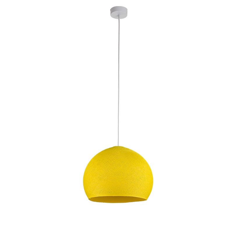 Suspension simple coupole M jaune