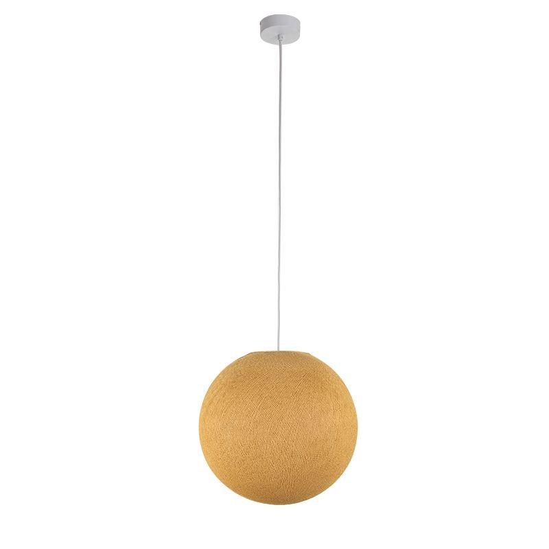 Suspension simple globe M moutarde