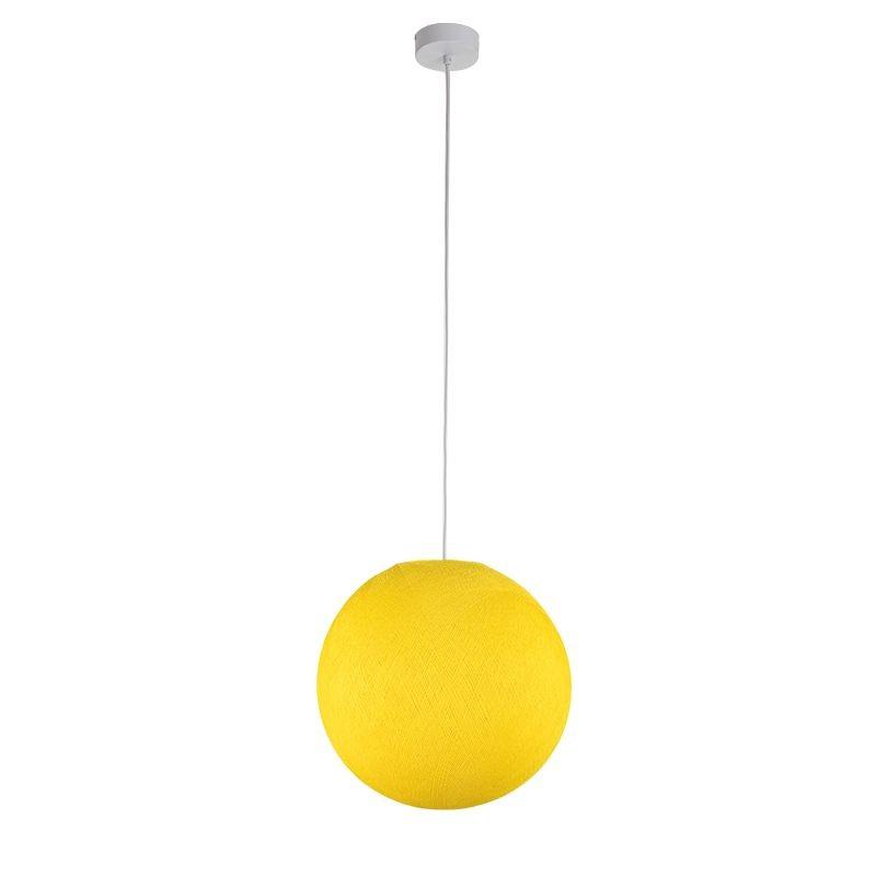 Suspension simple globe M jaune