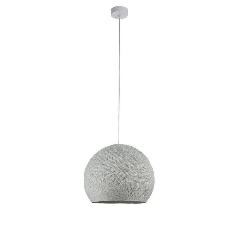 Suspension simple coupole M gris perle