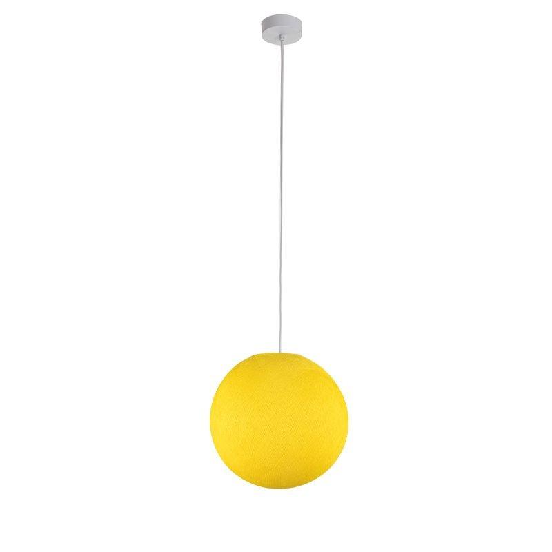 Suspension simple globe S jaune