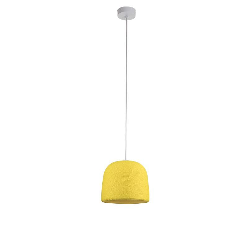 Suspension simple cloche jaune