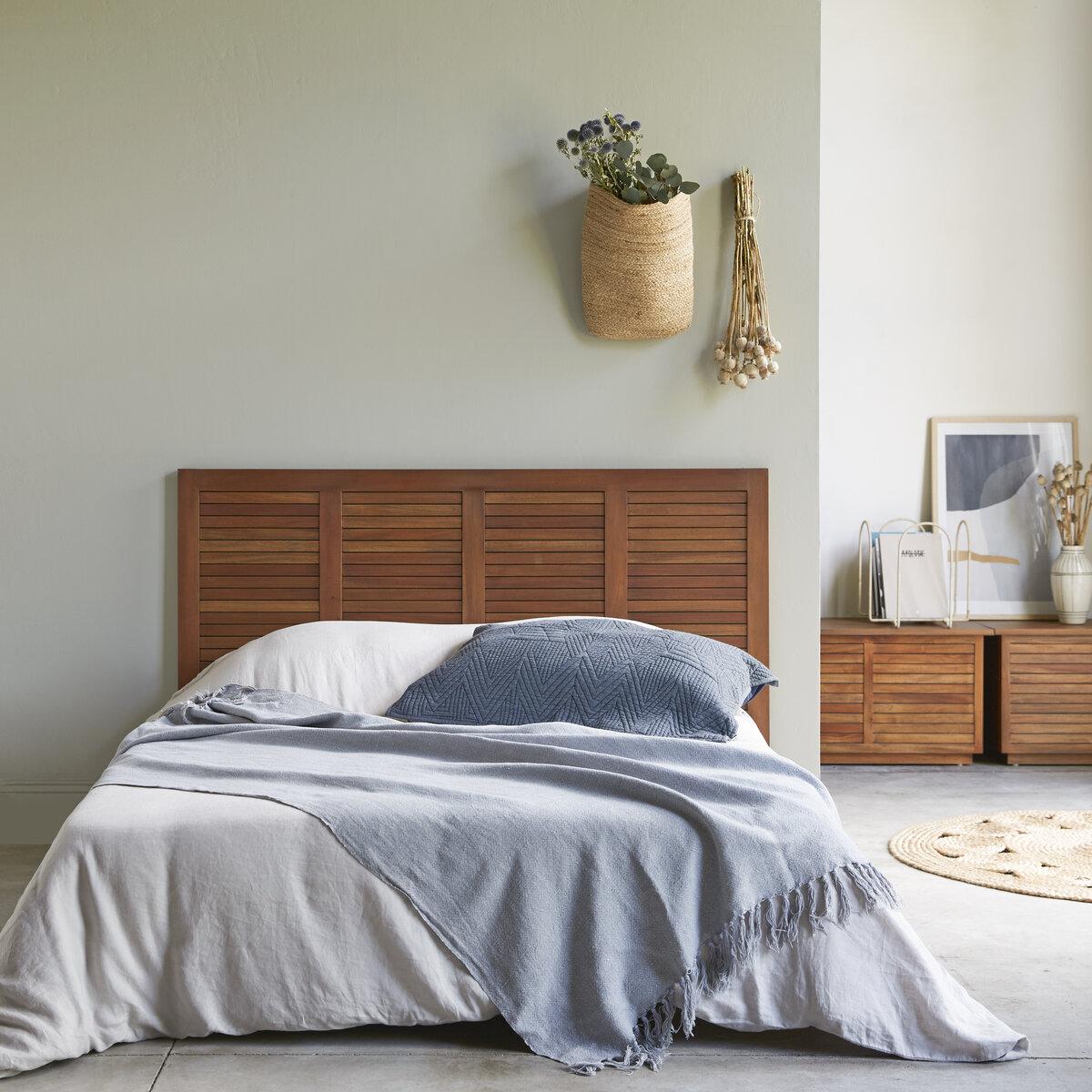 Tête de lit en bois d'acajou massif 160