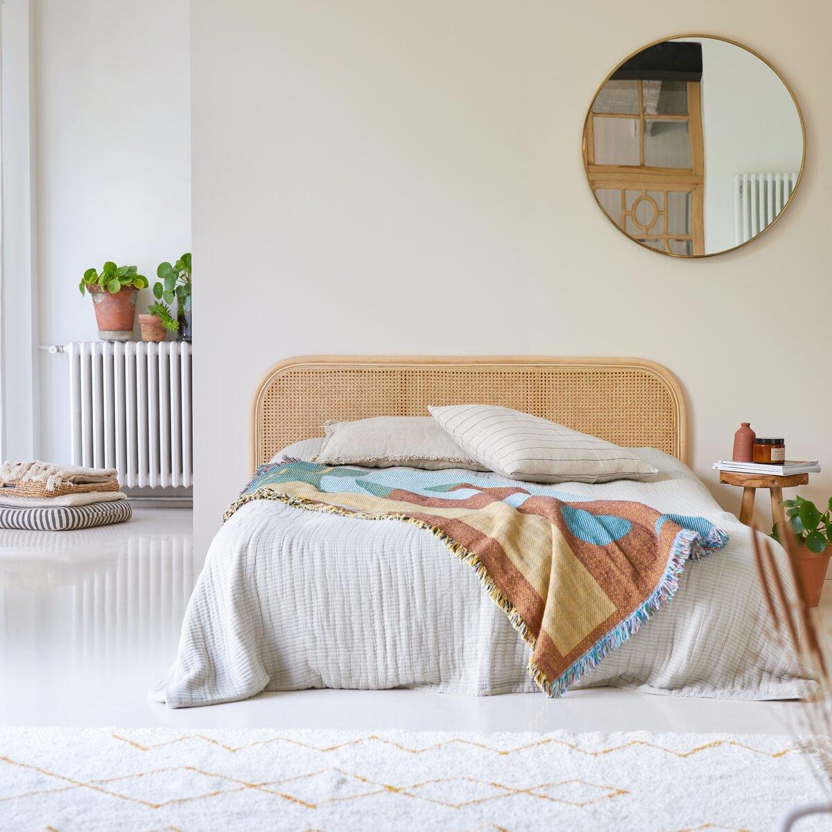 Tête de lit en rotin cannée 160 cm