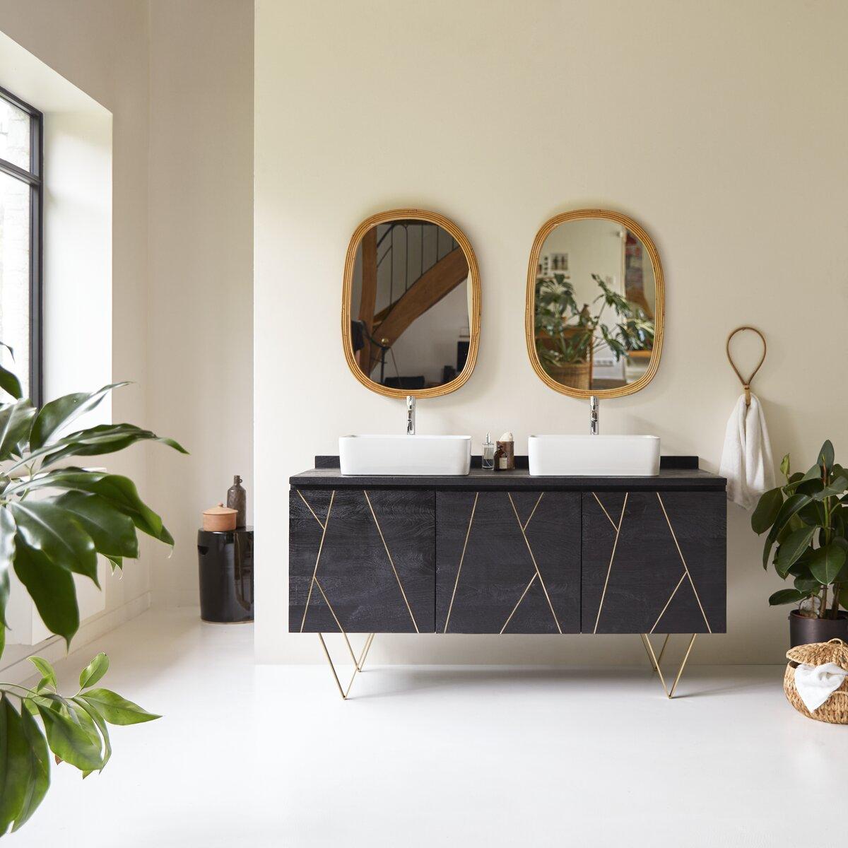 Meuble salle de bain en manguier massif 155