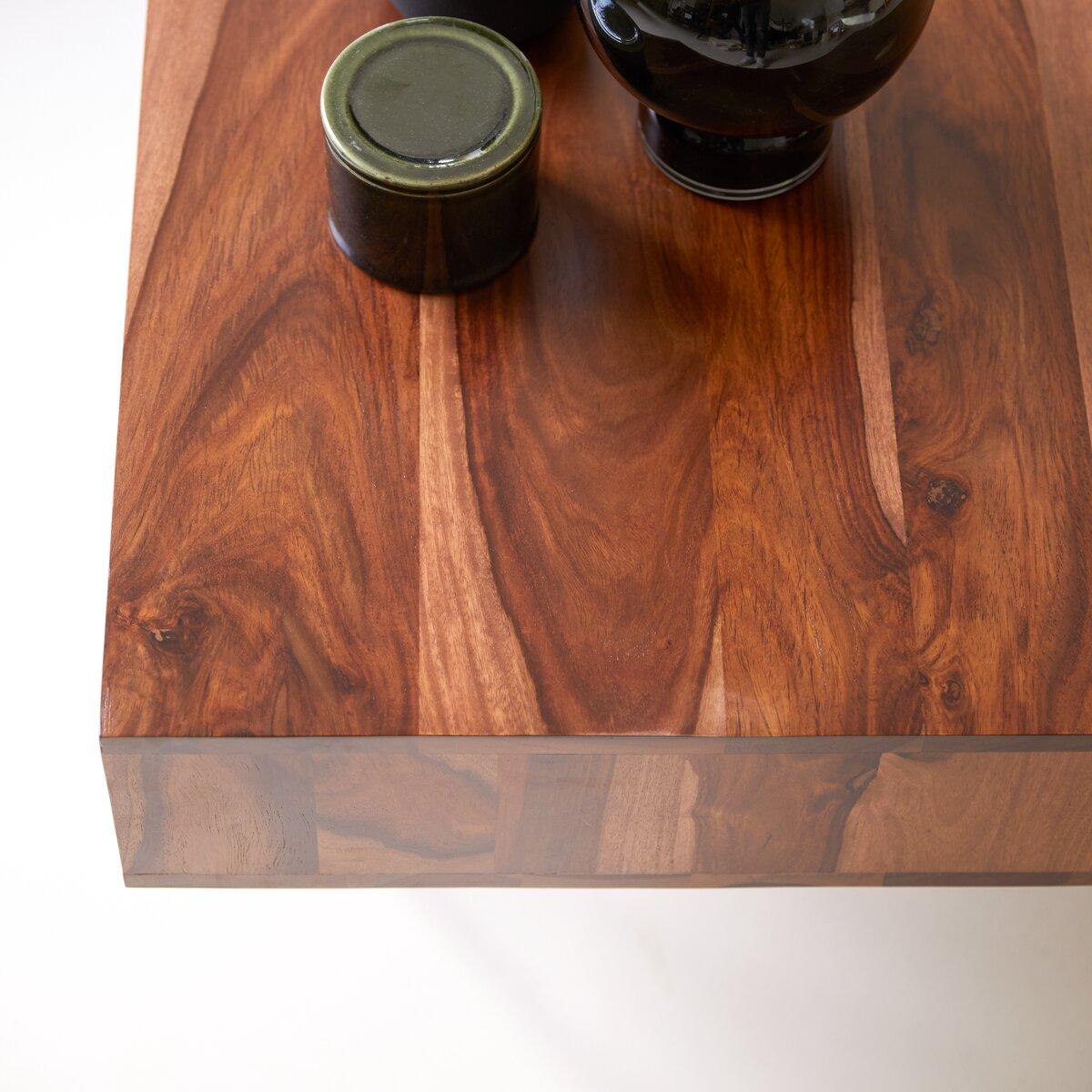 Table basse en bois de palissandre massif 115x70