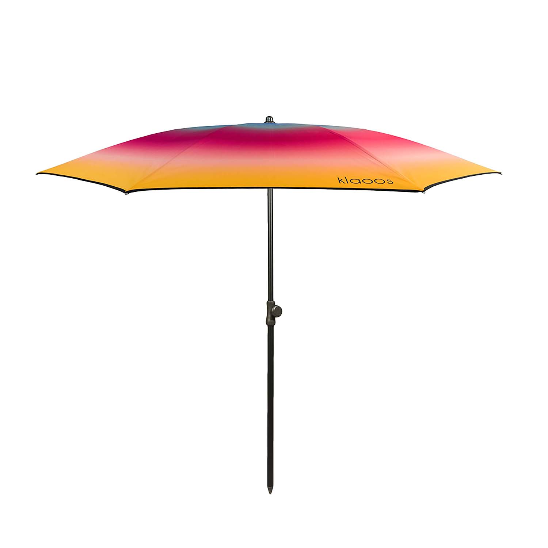 Parasol de plage en textile recyclé hibiscus