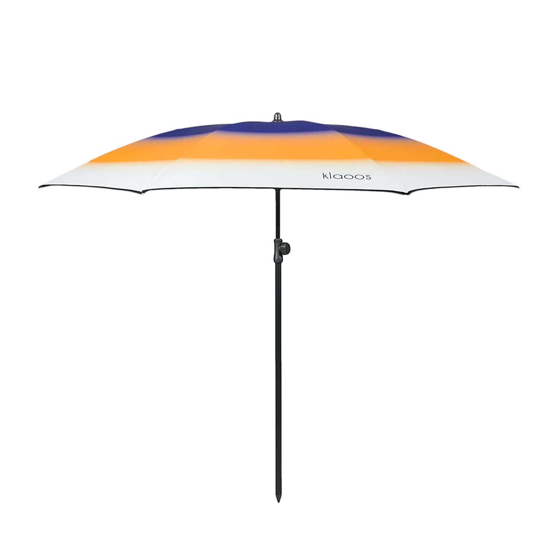 Parasol de plage en textile recyclé solaire