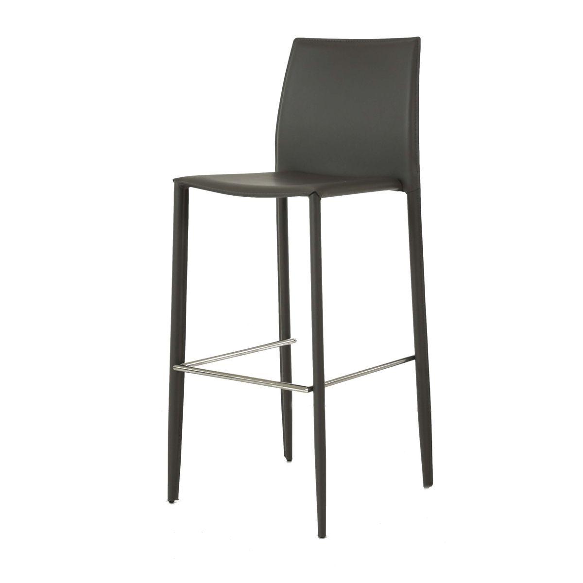 Chaise de bar design cuir reconstitué