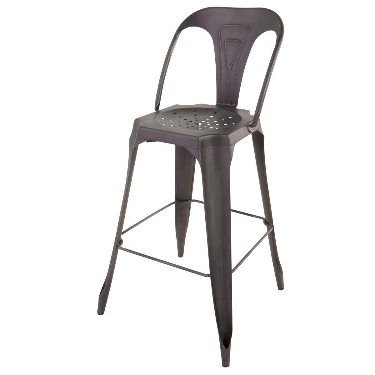 Chaise de bar industrielle en métal