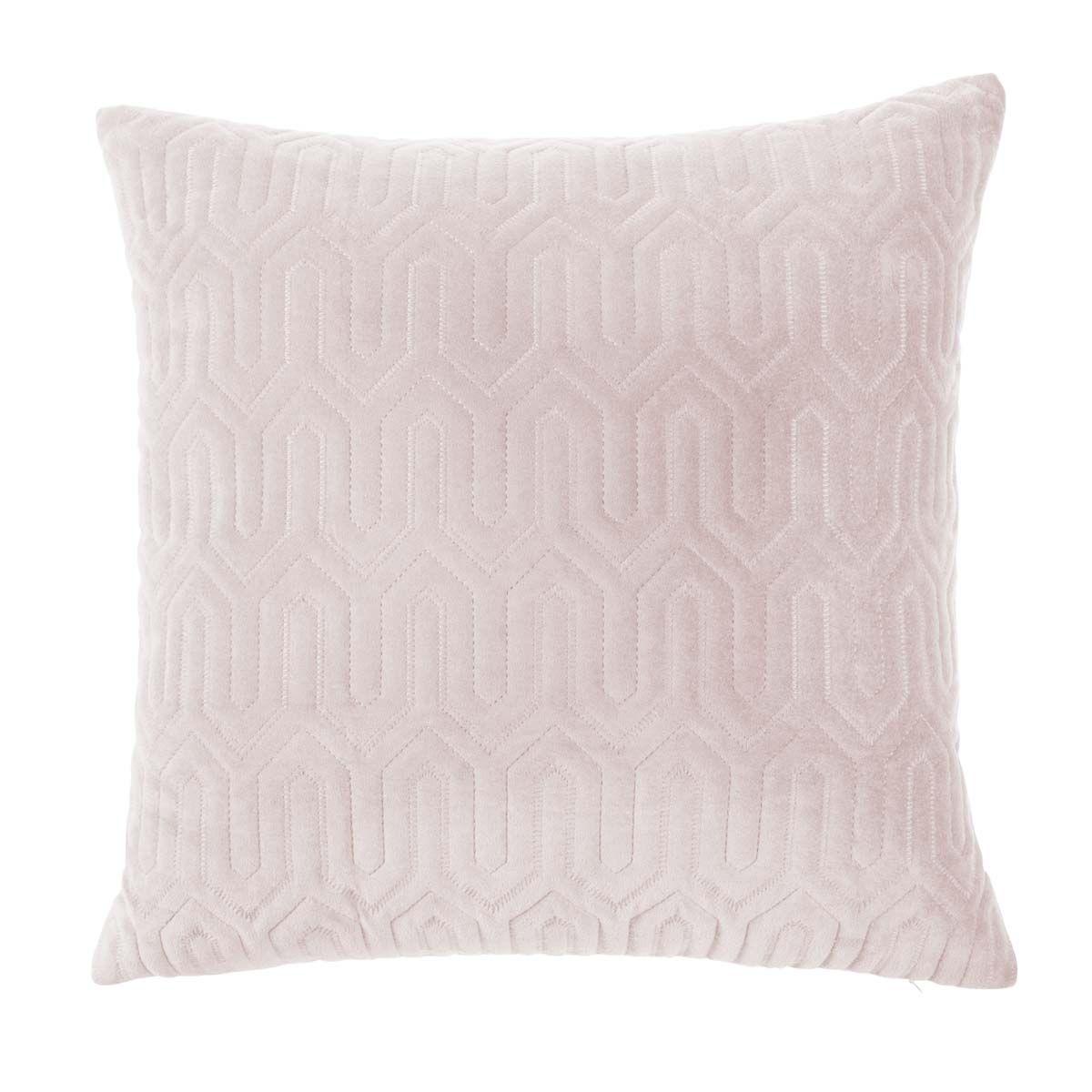 Housse de coussin en velours blanc carrée 50 x 50 cm