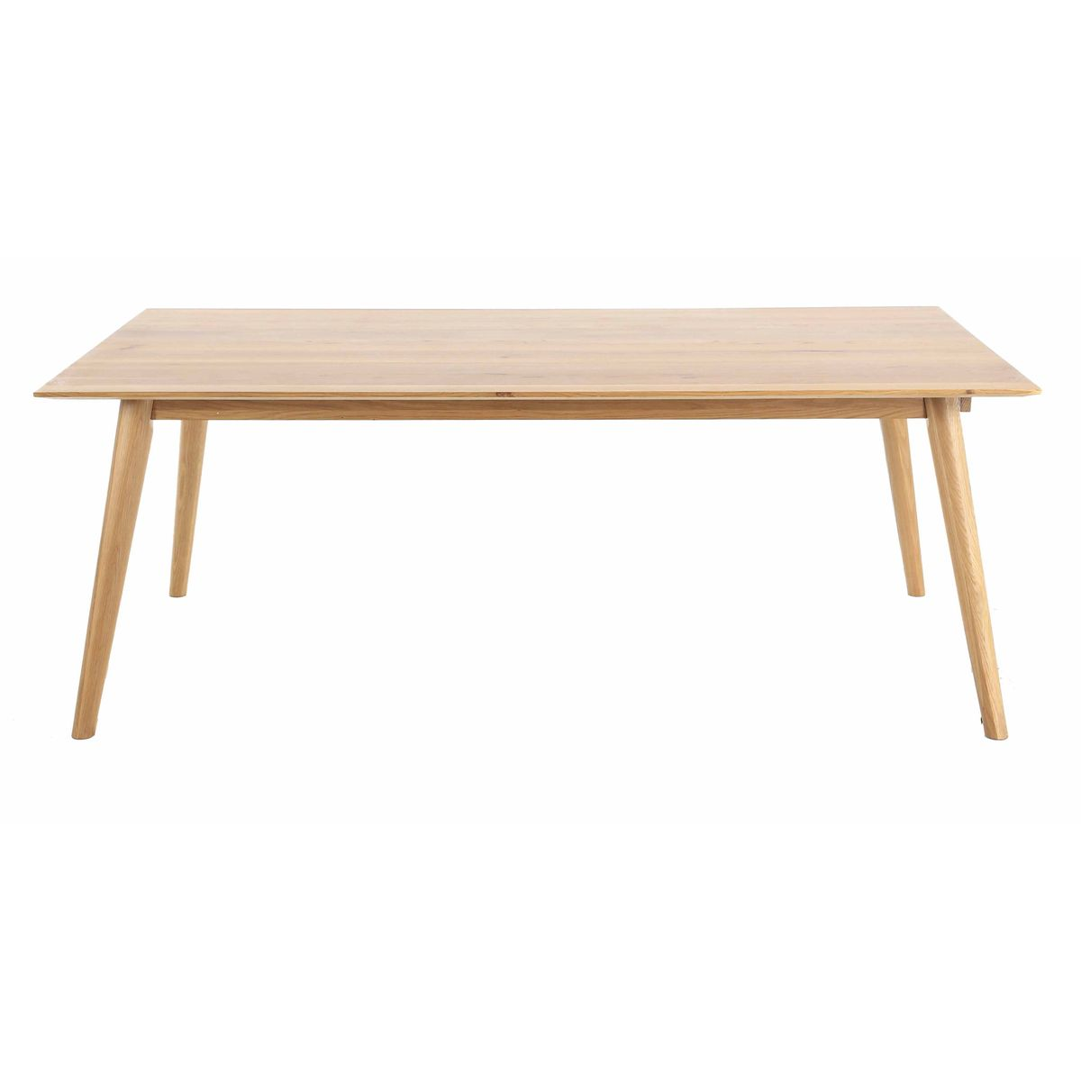 Table extensible chêne massif 180 cm allonges en option