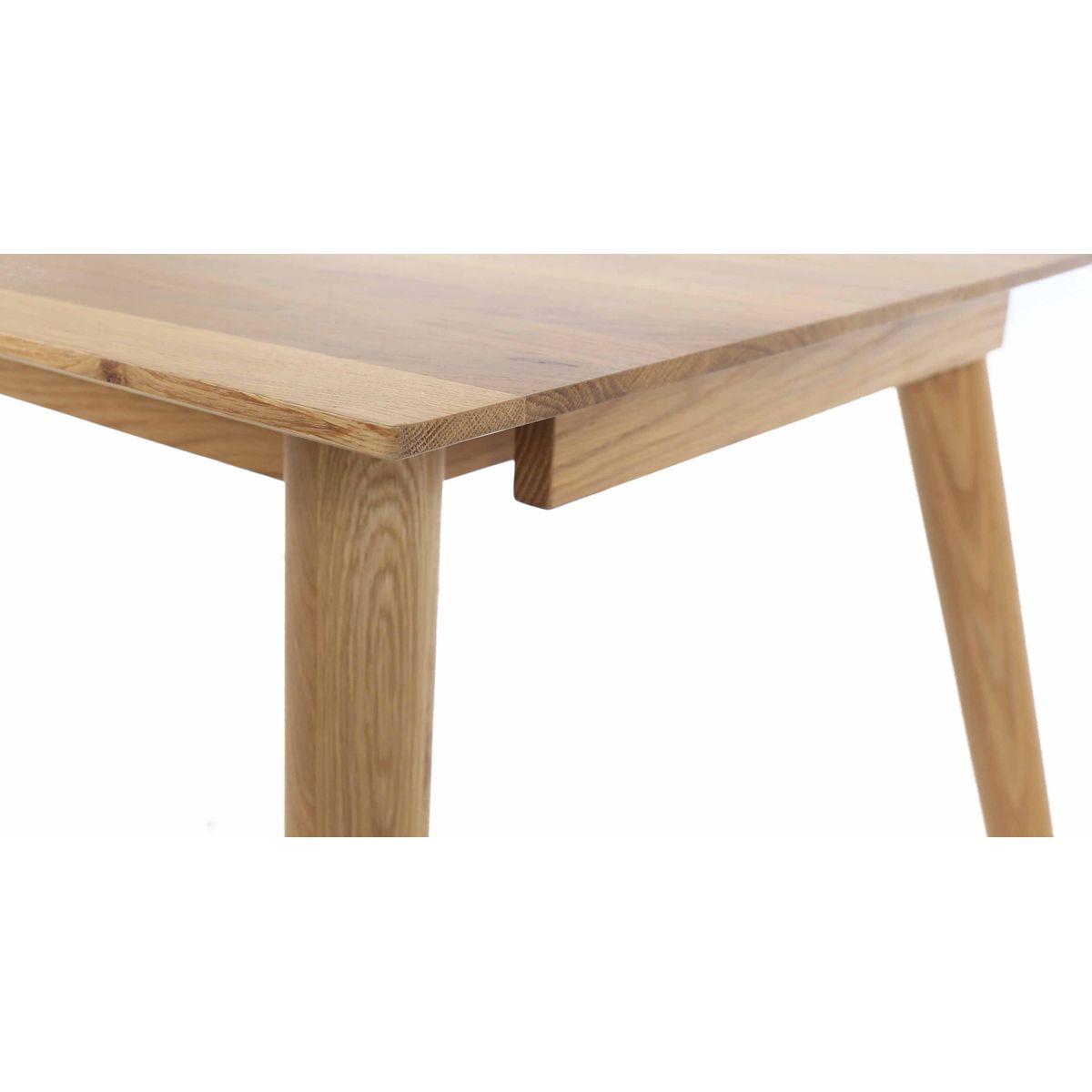 Table extensible chêne massif 180 cm allonges en option