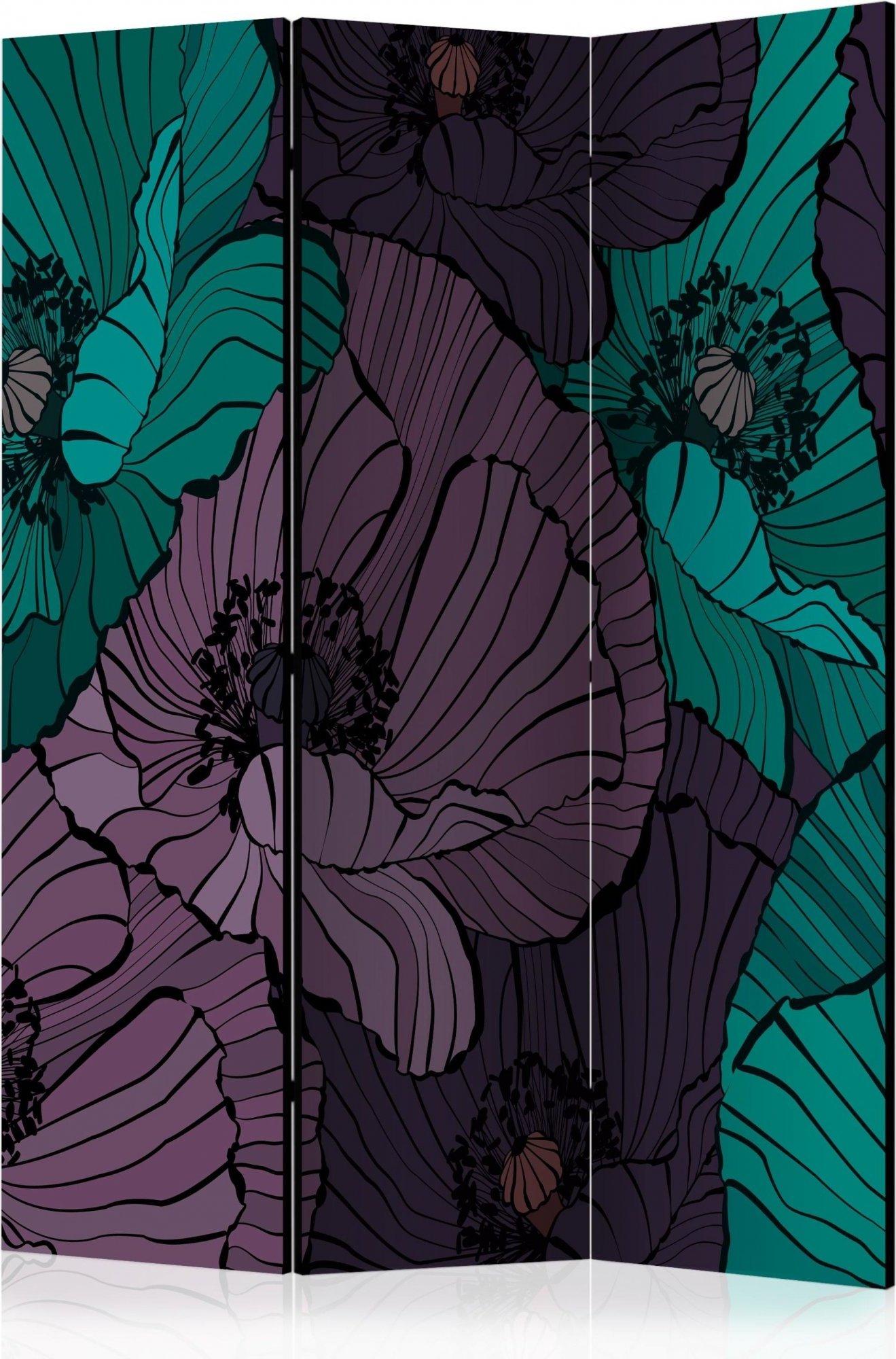 Paravent 3 volets violet