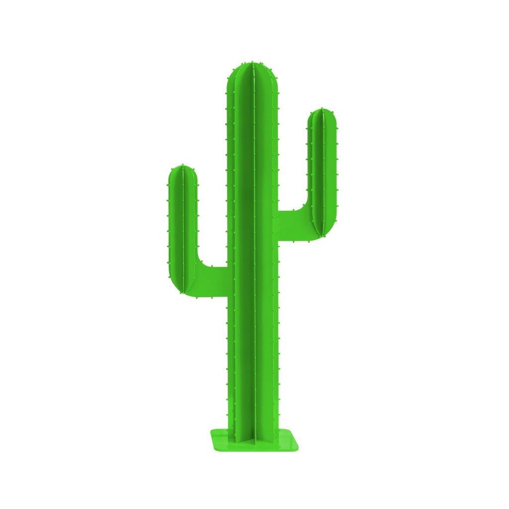 Cactus de jardin 2 branches en aluminium vert H150cm