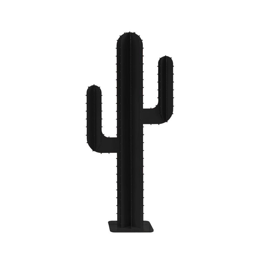 Cactus de jardin 2 branches en aluminium noir H150cm