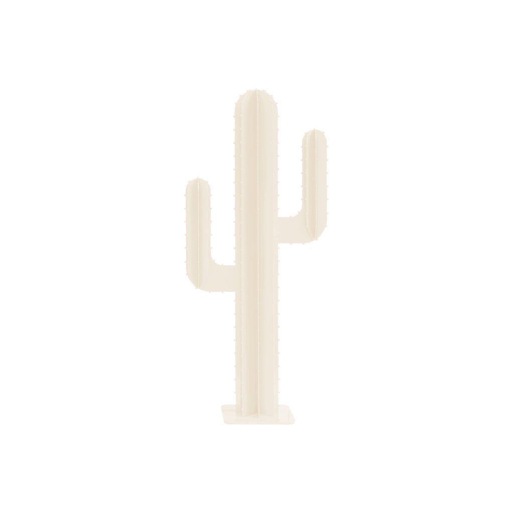 Cactus de jardin 2 branches en aluminium blanc H100cm