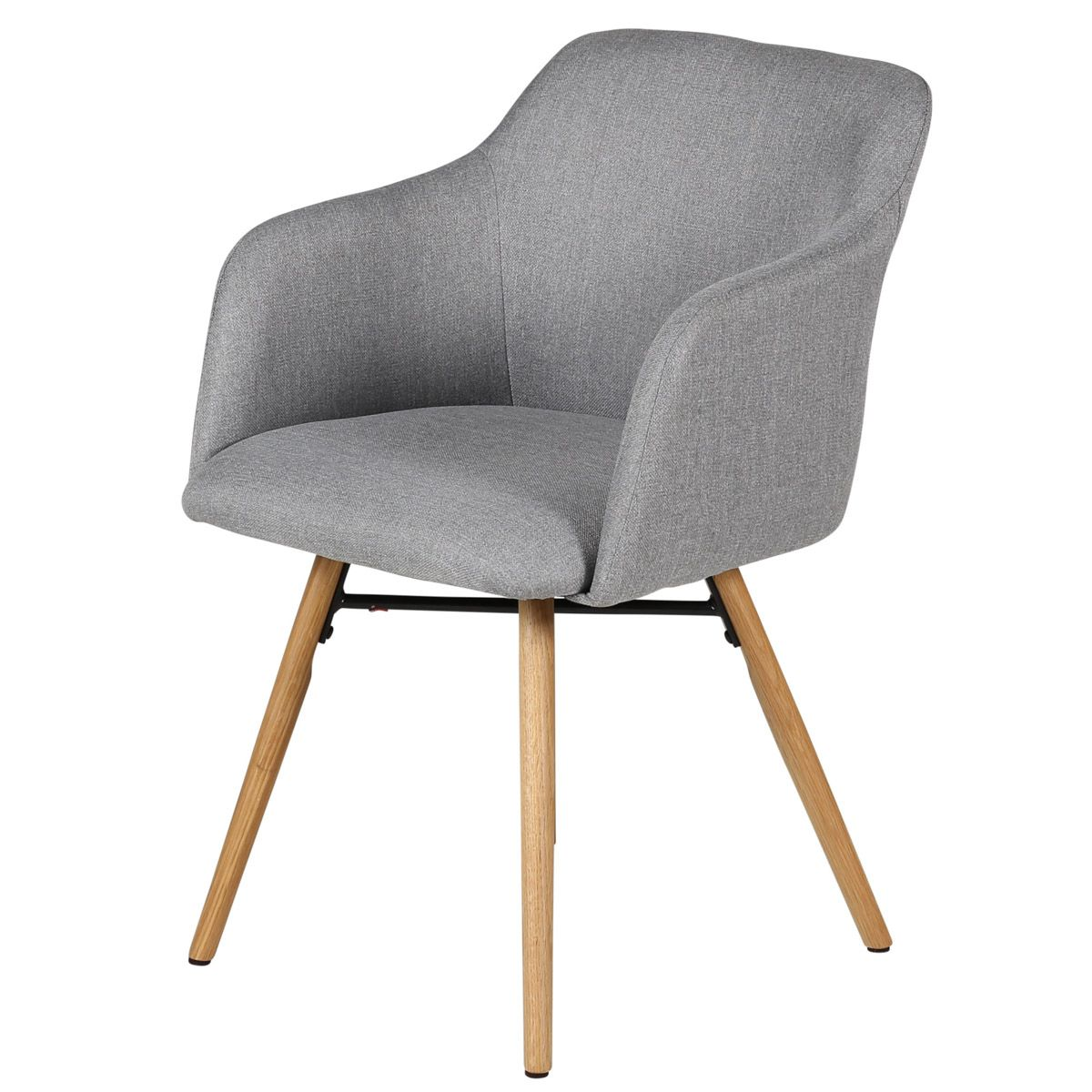 Chaise accoudoirs pieds chêne naturel
