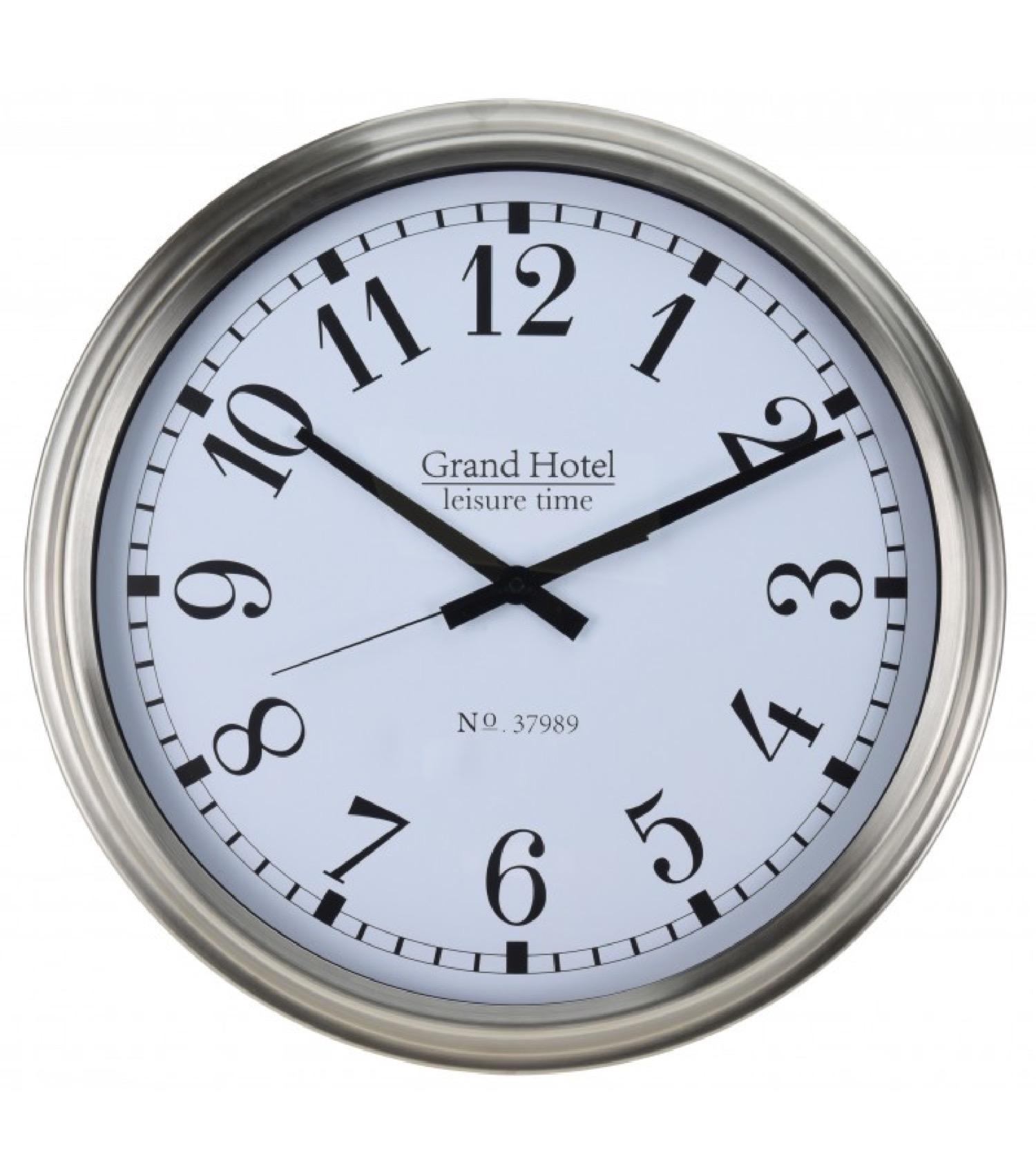 Horloge murale en acier inoxydable D51,6