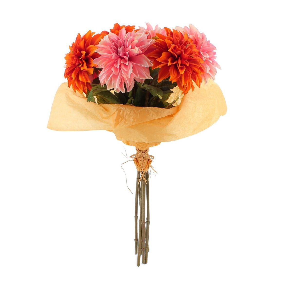 Bouquet de dhalias artificiels 7 tiges H80cm