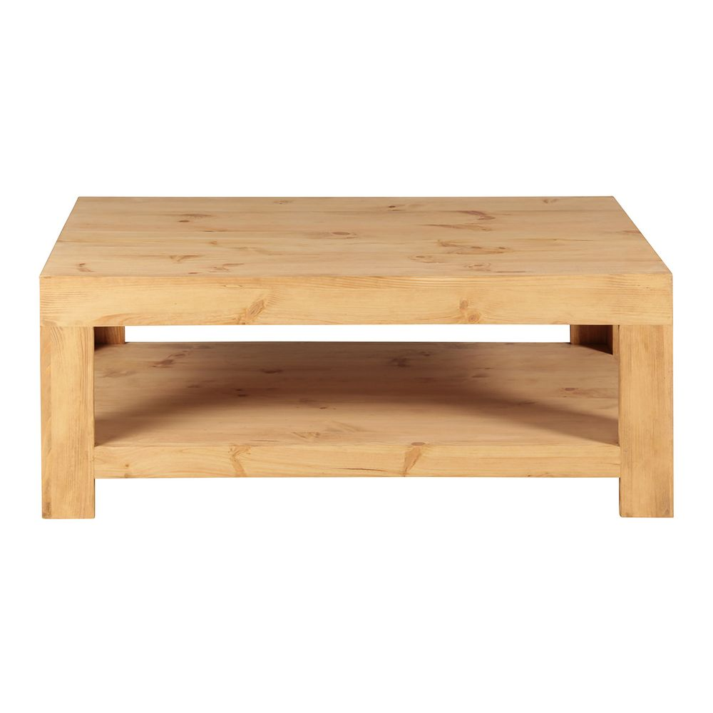 Table basse pin massif 120 cm
