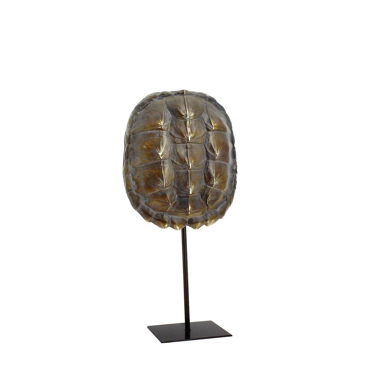 Carapace de tortue en résine sur socle en métal