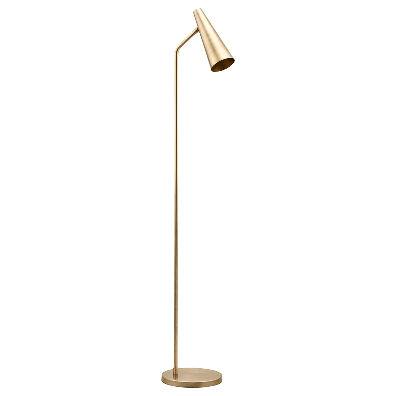 Lampadaire métal or H124cm