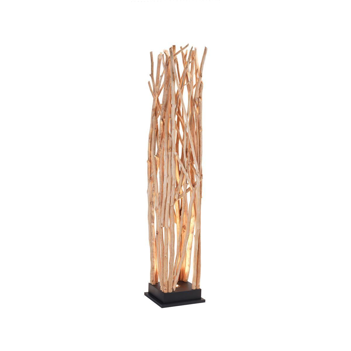 Lampadaire en bois de longan H170