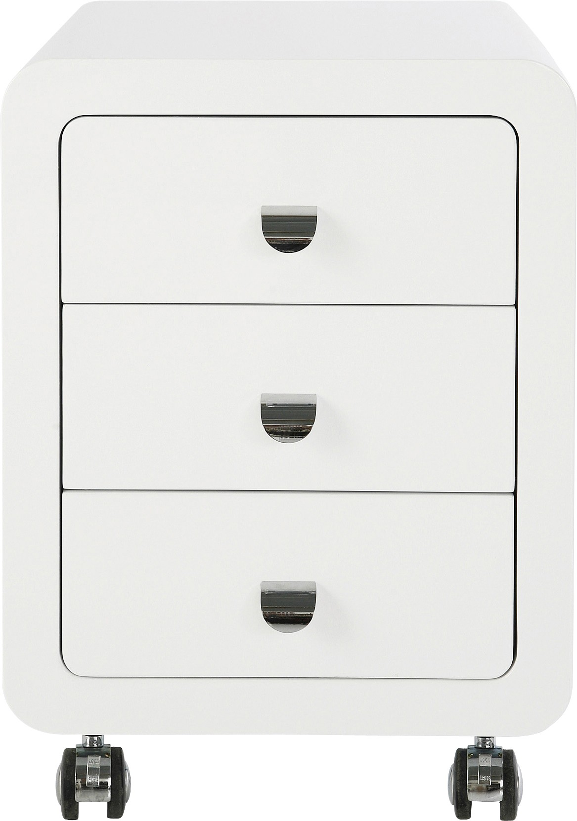 Caisson de bureau 3 tiroirs blanc