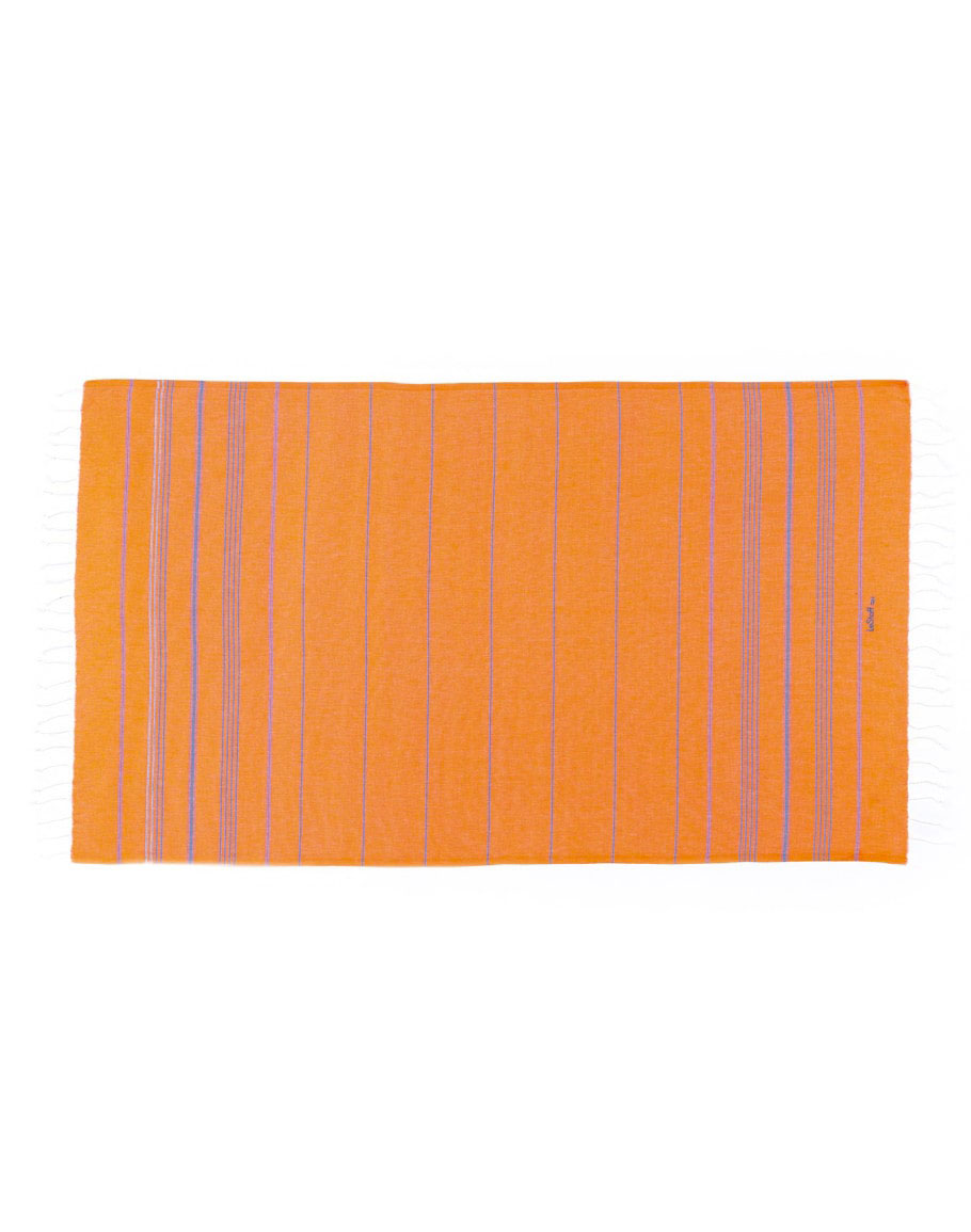 Fouta en coton peigné Orange-Bleue 100 x 180 cm