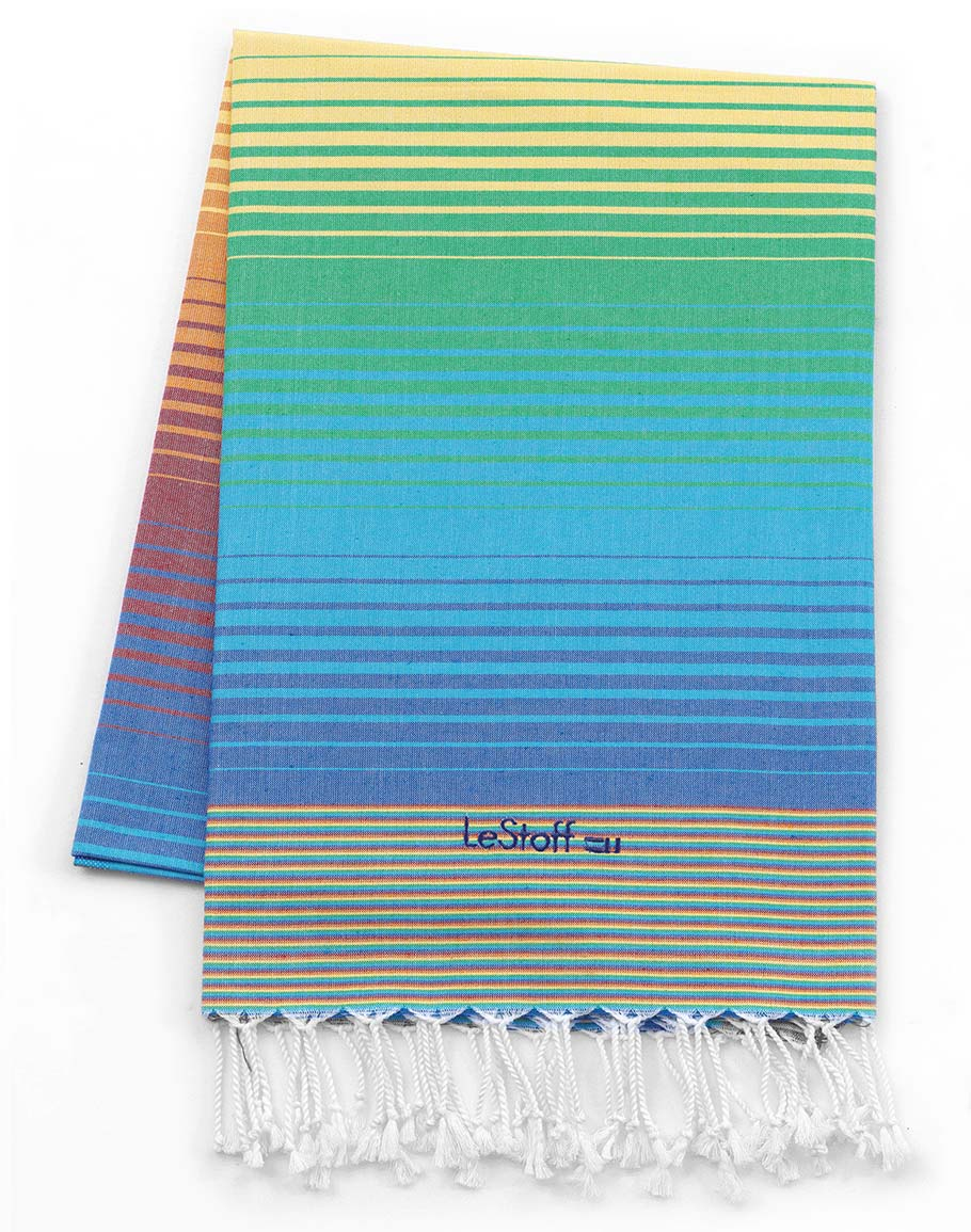 Fouta en coton peigné Arc En Ciel 100 x 180 cm